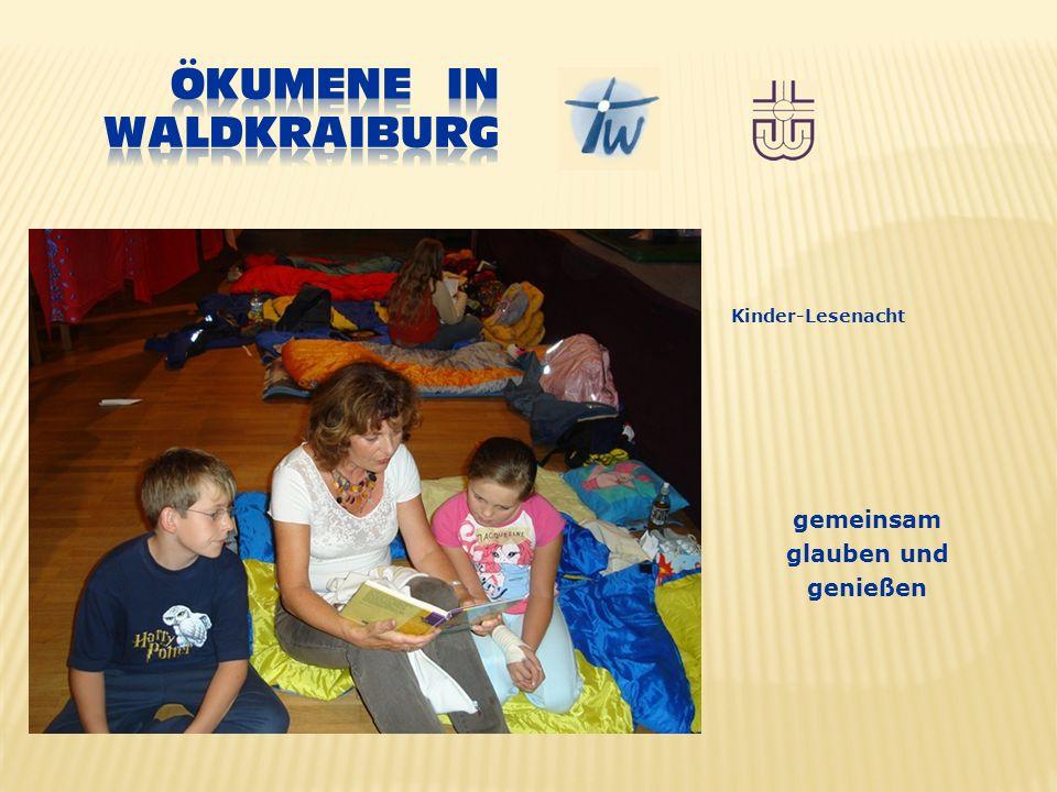 gemeinsam glauben und genießen Kinder-Lesenacht