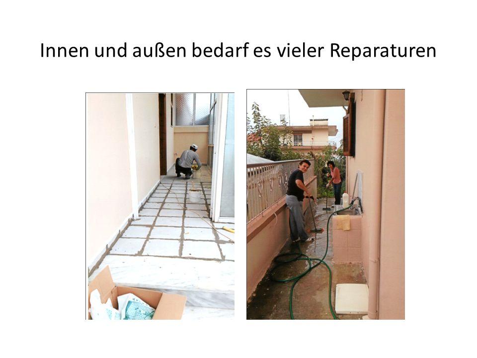 Innen und außen bedarf es vieler Reparaturen