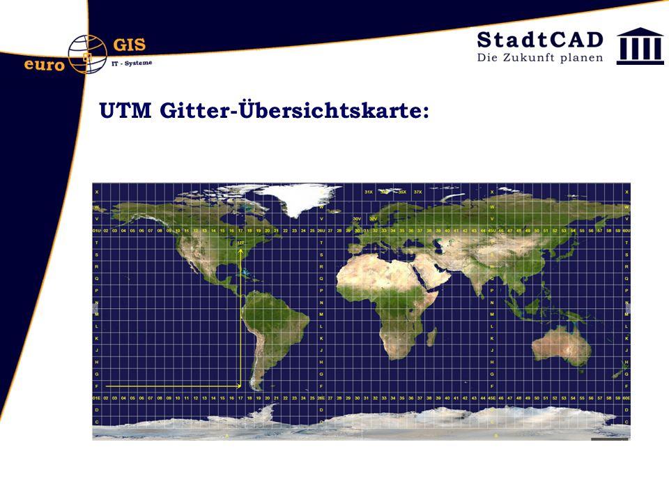 UTM Gitter-Übersichtskarte: