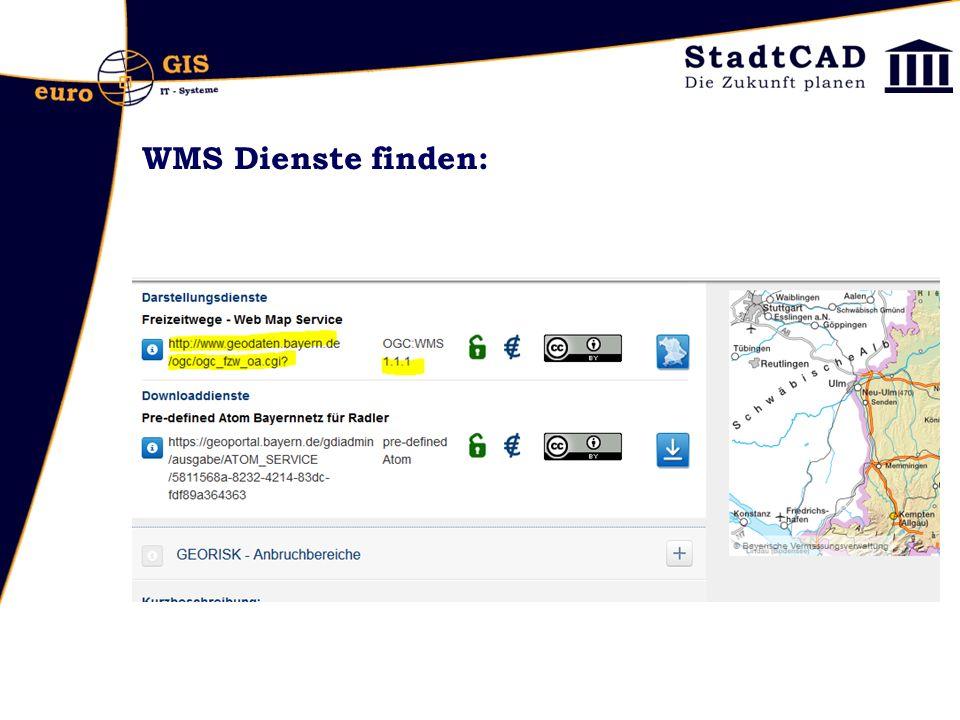 WMS Dienste finden: