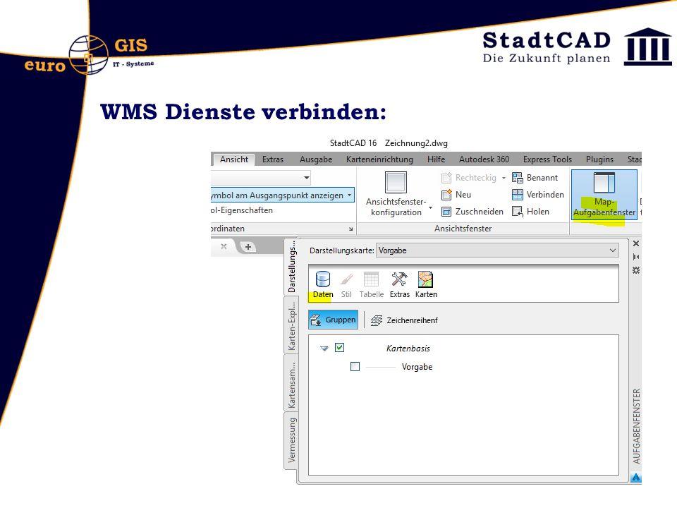 WMS Dienste verbinden: