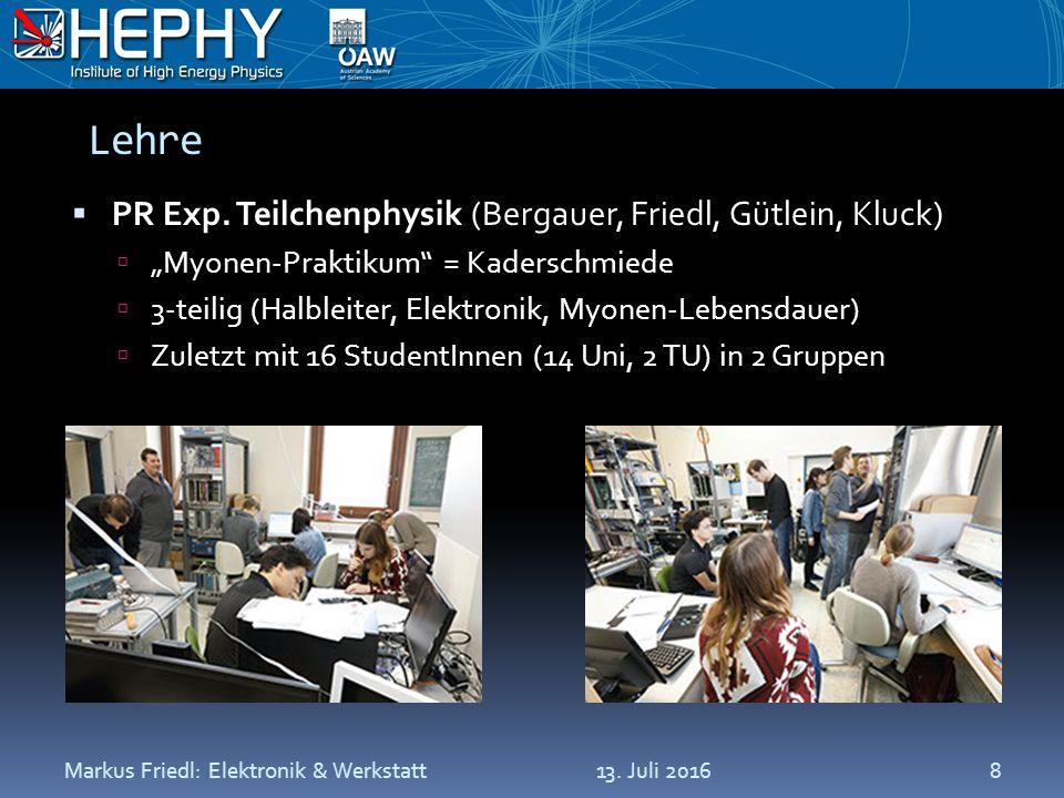 Lehre  PR Exp.