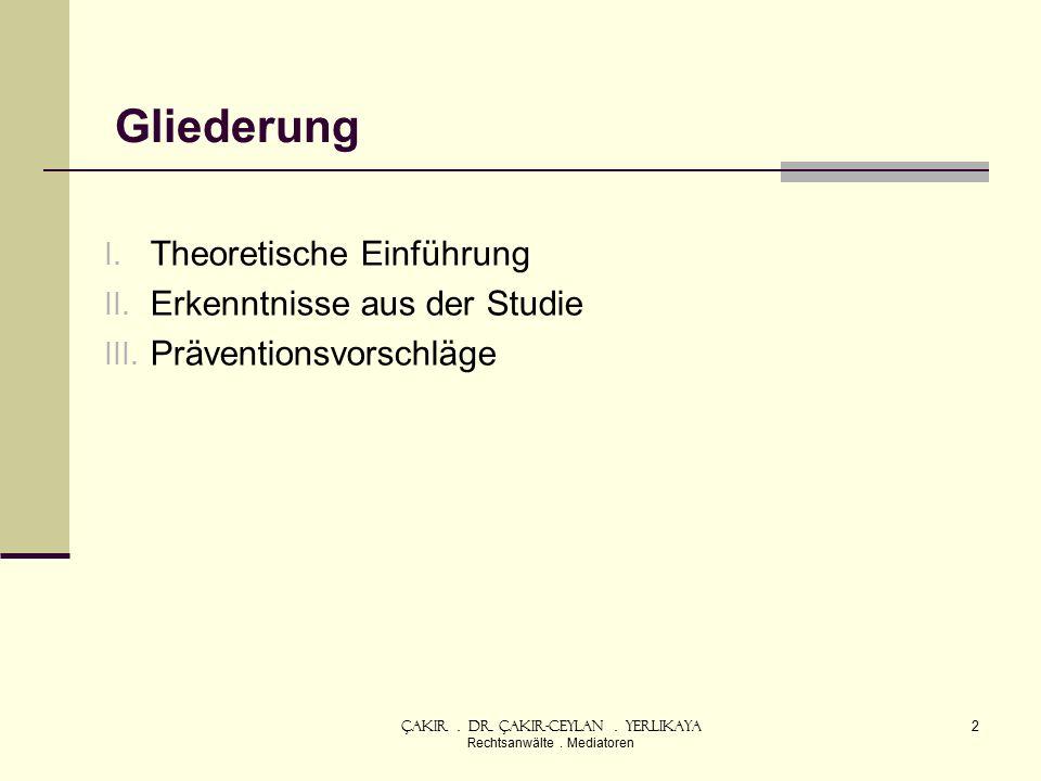 Gliederung I. Theoretische Einführung II. Erkenntnisse aus der Studie III.