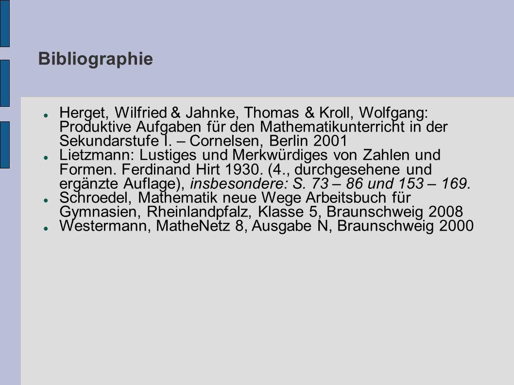 Bibliographie Herget, Wilfried & Jahnke, Thomas & Kroll, Wolfgang: Produktive Aufgaben für den Mathematikunterricht in der Sekundarstufe I. – Cornelse