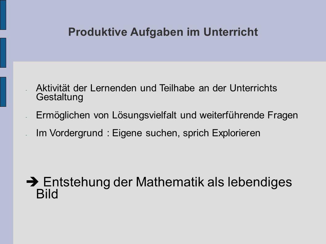 Hausaufgaben Vier Beispiele für produktive Aufgaben