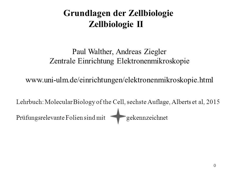 Grundlagen der Zellbiologie Zellbiologie II Lehrbuch: Molecular Biology of the Cell, sechste Auflage, Alberts et al, 2015 Prüfungsrelevante Folien sin