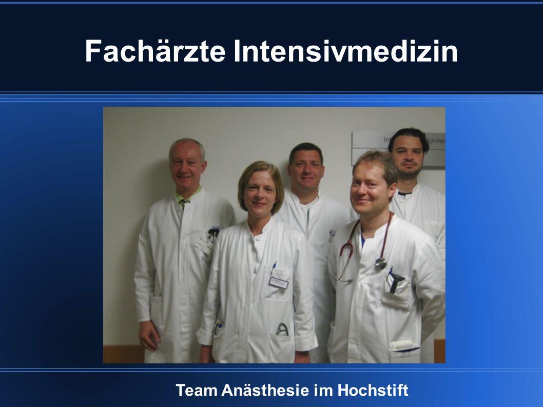 Fachärzte Intensivmedizin Team Anästhesie im Hochstift