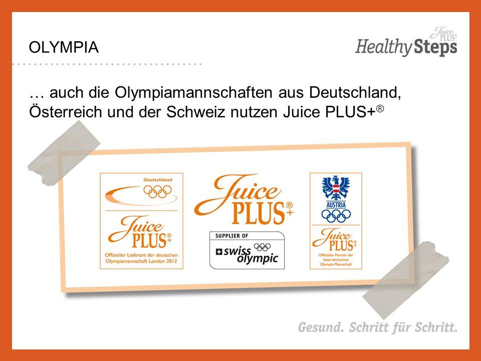 OLYMPIA … auch die Olympiamannschaften aus Deutschland, Österreich und der Schweiz nutzen Juice PLUS+ ®
