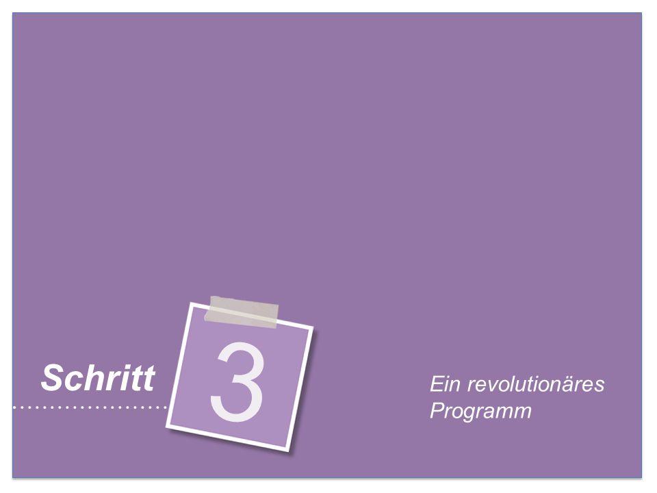 Ein revolutionäres Programm 3 Schritt
