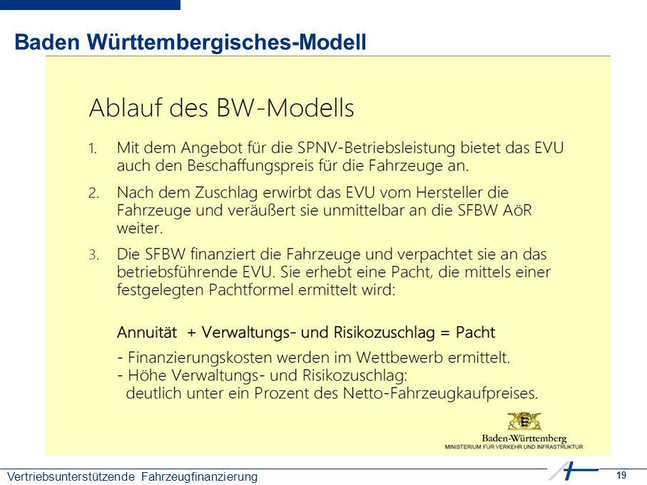 19 Vertriebsunterstützende Fahrzeugfinanzierung Baden Württembergisches-Modell