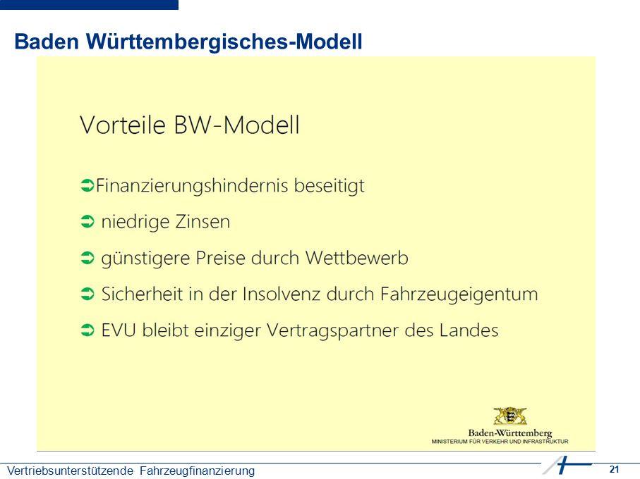 21 Vertriebsunterstützende Fahrzeugfinanzierung Baden Württembergisches-Modell
