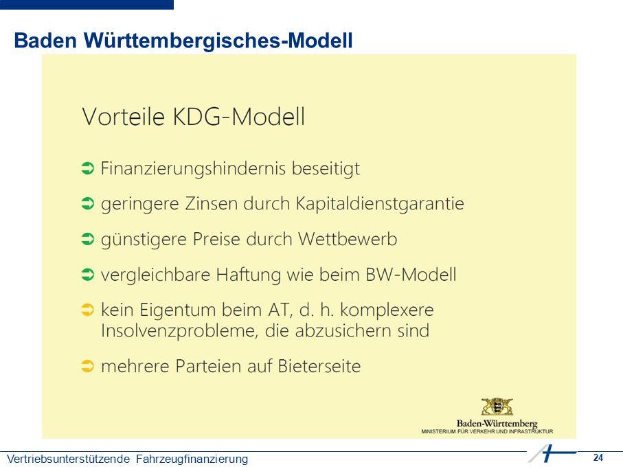 24 Vertriebsunterstützende Fahrzeugfinanzierung Baden Württembergisches-Modell