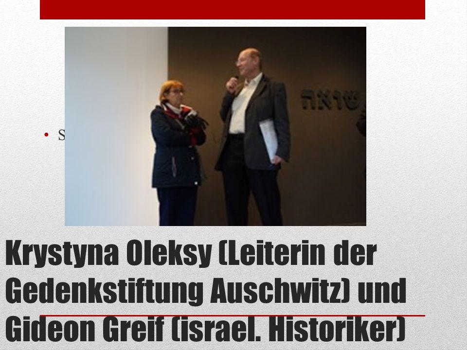 Krystyna Oleksy (Leiterin der Gedenkstiftung Auschwitz) und Gideon Greif (israel. Historiker) SF KO + GG im Ju ̈ d. Pavillon DSC05891
