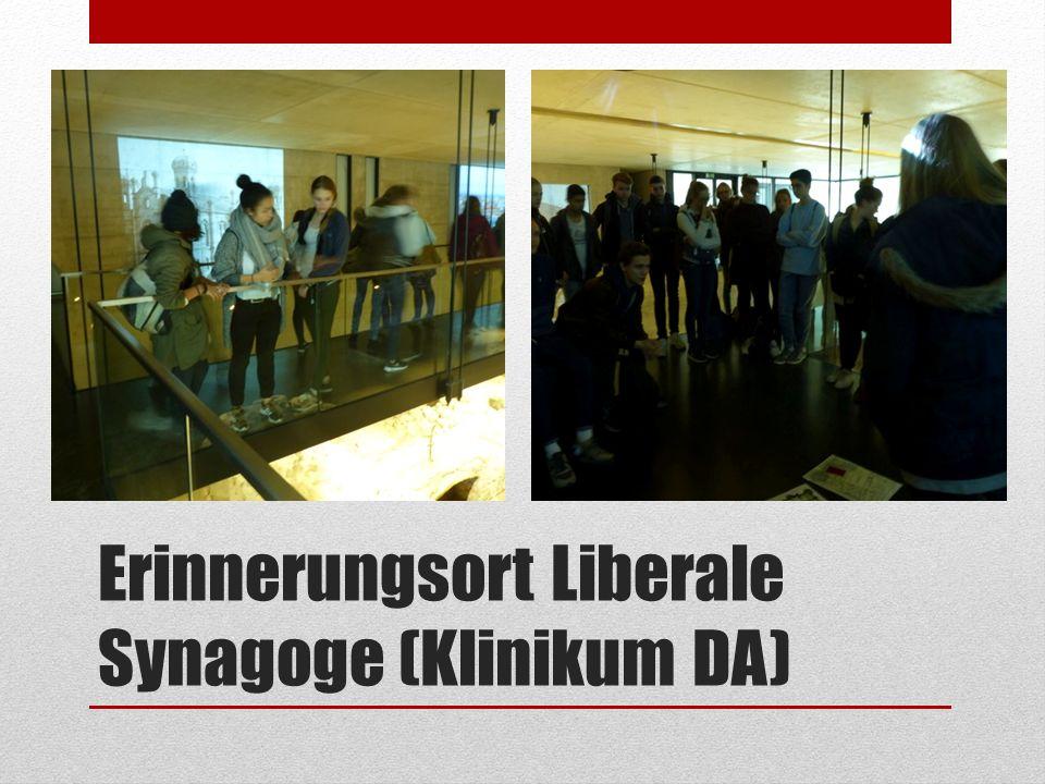 Erinnerungsort Liberale Synagoge (Klinikum DA)