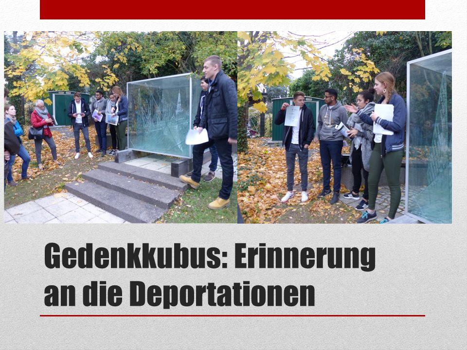 Gedenkkubus: Erinnerung an die Deportationen