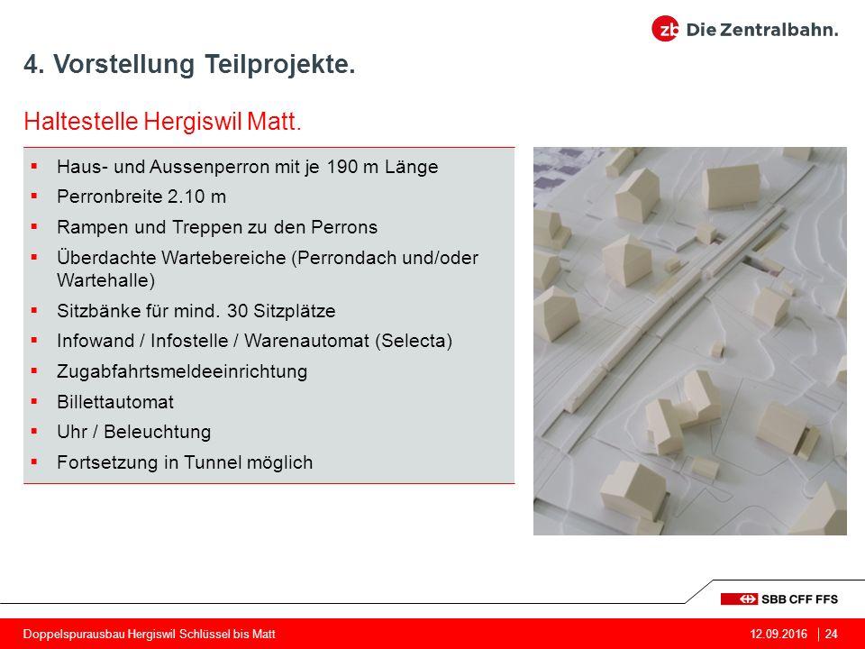 4. Vorstellung Teilprojekte. 24 Haltestelle Hergiswil Matt.
