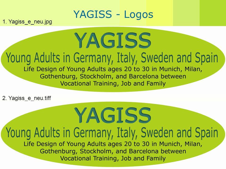 Angelika Guglhör-Rudan YAGISS - Logos 1. Yagiss_e_neu.jpg 2. Yagiss_e_neu.tiff