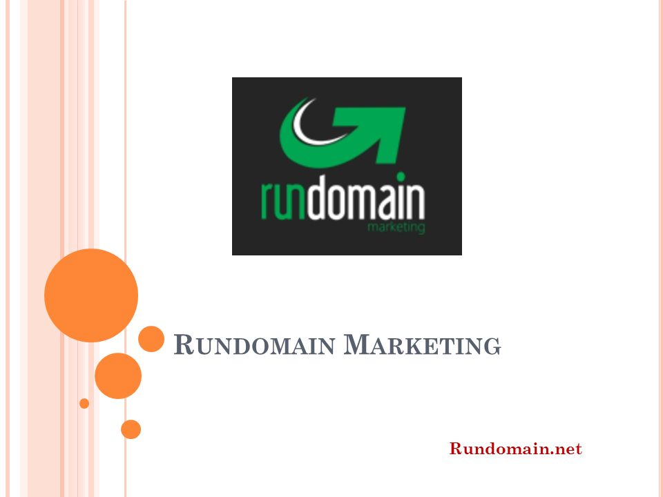 R UNDOMAIN M ARKETING Rundomain.net
