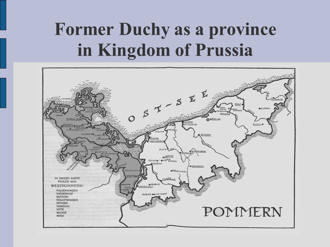 Former Duchy as a province in Kingdom of Prussia
