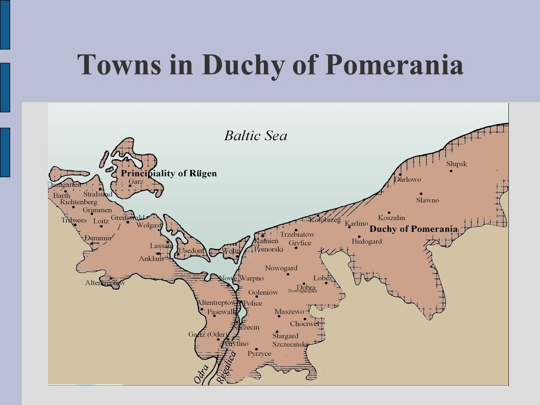 Towns in Duchy of Pomerania