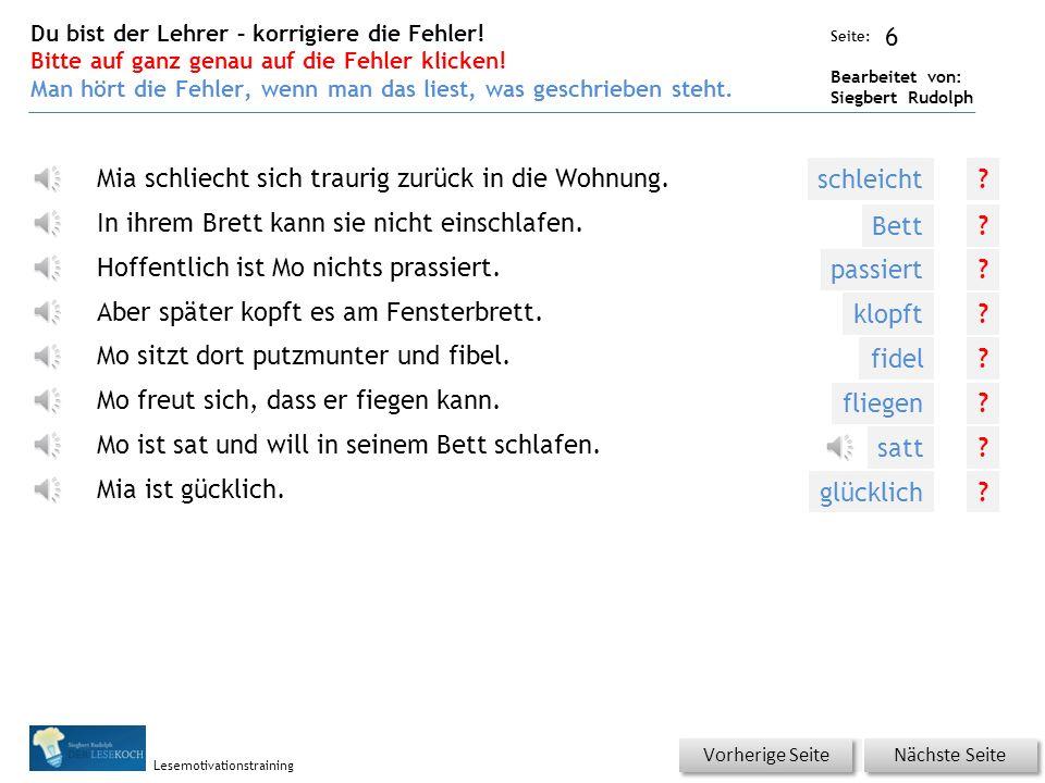 Übungsart: Seite: Bearbeitet von: Siegbert Rudolph Lesemotivationstraining 5 Silbenhammer Bitte klicken.