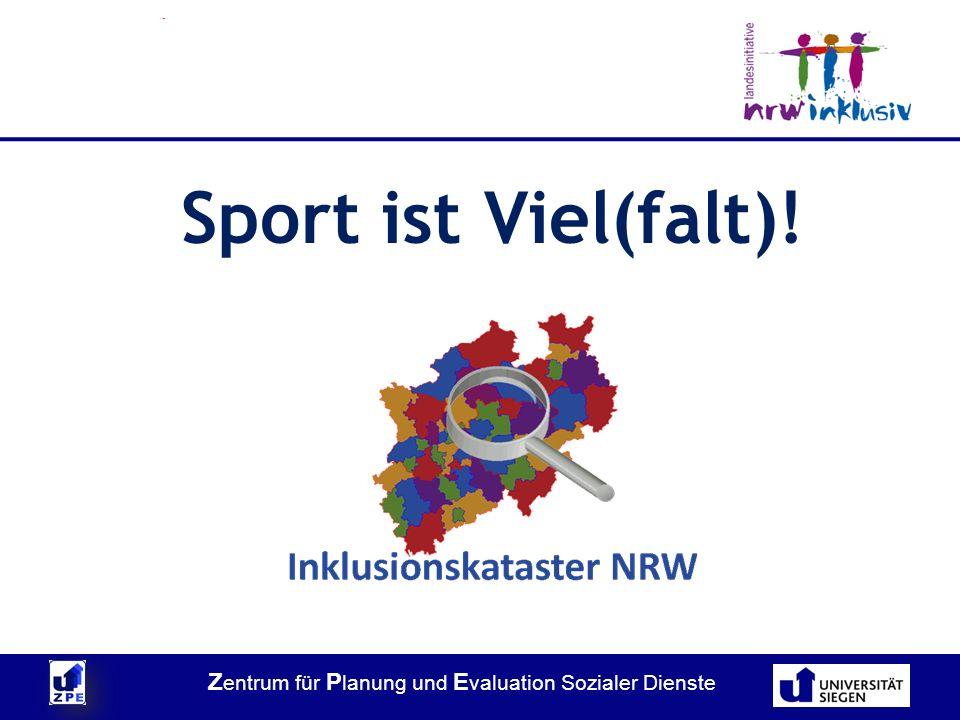 Z entrum für P lanung und E valuation Sozialer Dienste Sport ist Viel(falt)!