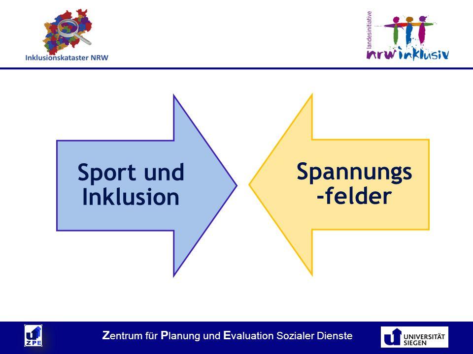 Z entrum für P lanung und E valuation Sozialer Dienste Sport und Inklusion Spannungs -felder