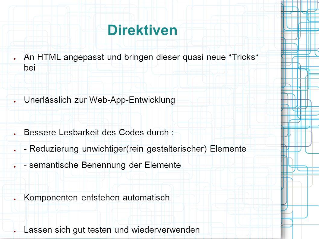 """● An HTML angepasst und bringen dieser quasi neue """"Tricks"""" bei ● Unerlässlich zur Web-App-Entwicklung ● Bessere Lesbarkeit des Codes durch : ● - Reduz"""