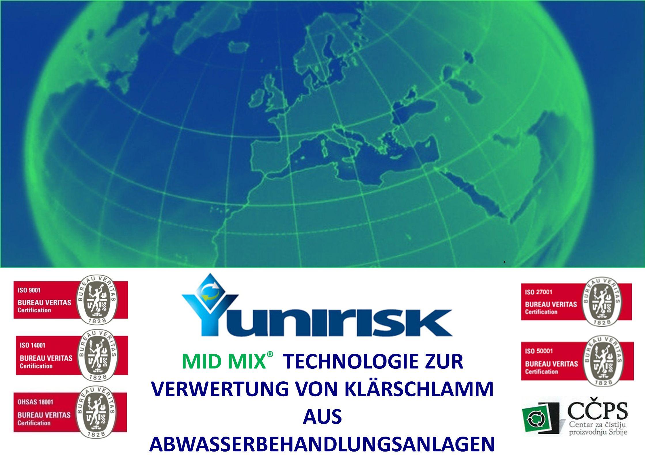 22.06.12 | MID MIX ® TECHNOLOGIE ZUR VERWERTUNG VON KLÄRSCHLAMM AUS ABWASSERBEHANDLUNGSANLAGEN.
