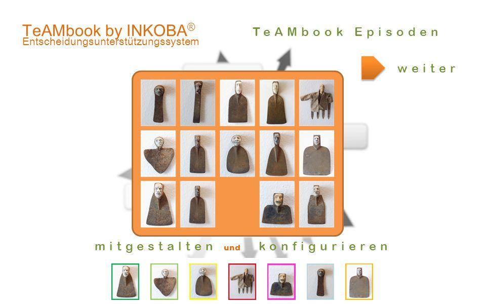 .er! TeAMbook by INKOBA ® Entscheidungsunterstützungssystem weiter mitgestalten und konfigurieren TeAMbook Episoden