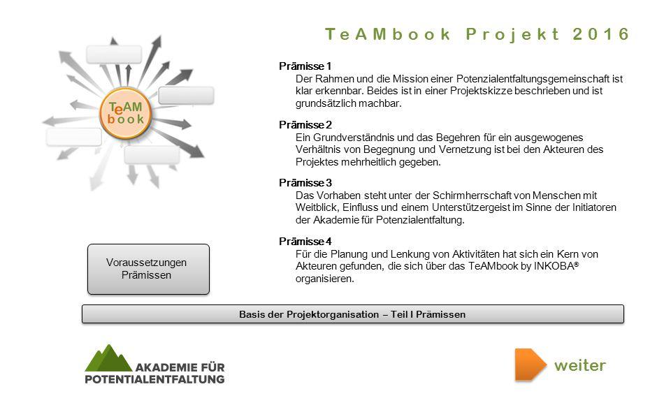 Basis der Projektorganisation – Teil I Prämissen.er.