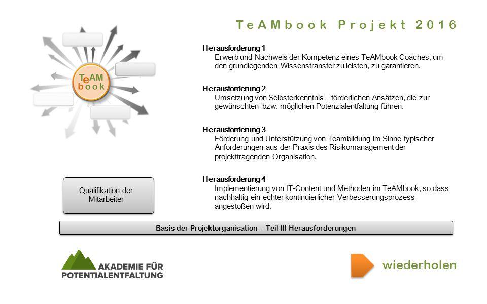 Basis der Projektorganisation – Teil III Herausforderungen.er.