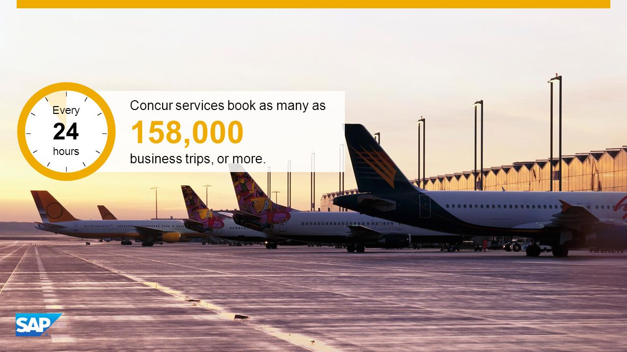 SAP Image ID # 273153 Concur services book as many as 158,000 business trips, or more.