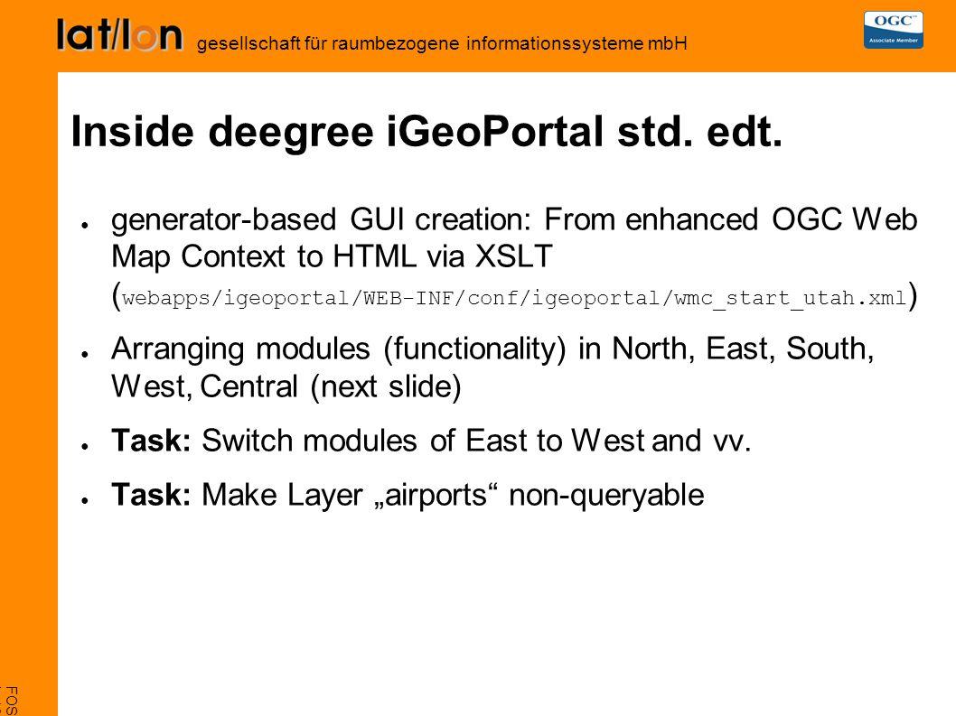 FOSS4G 2007, Victoria L-16 deegree iGeoSecurity gesellschaft für raumbezogene informationssysteme mbH GUI structure
