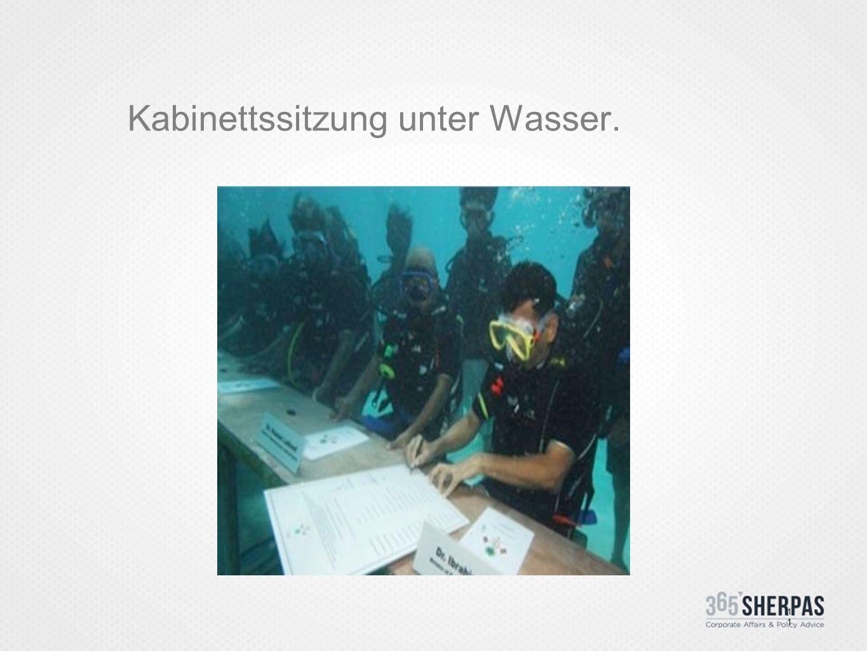 Kabinettssitzung unter Wasser. 11
