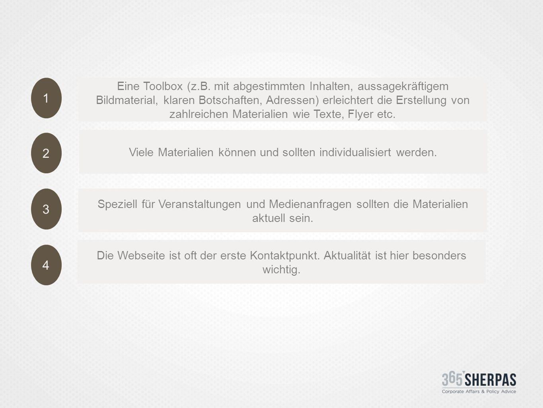 1 2 3 4 Eine Toolbox (z.B.