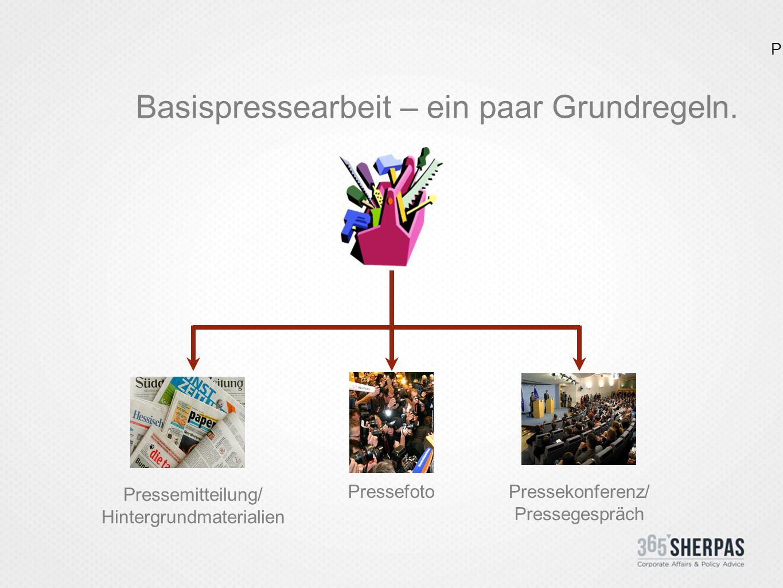 Die Pressematerialien.