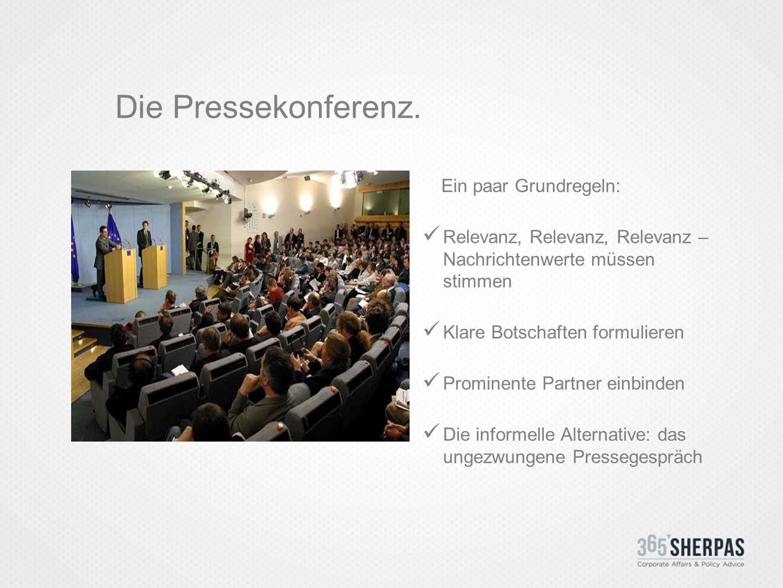 Die Pressekonferenz.