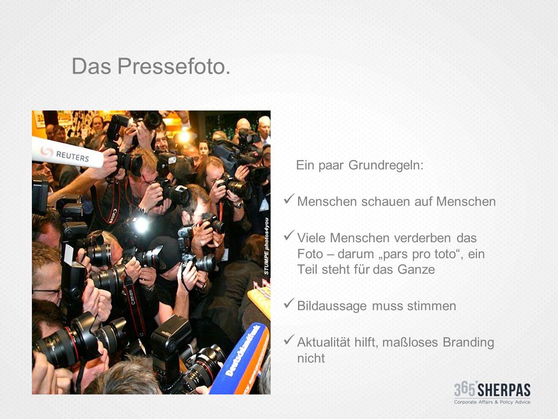 Das Pressefoto.