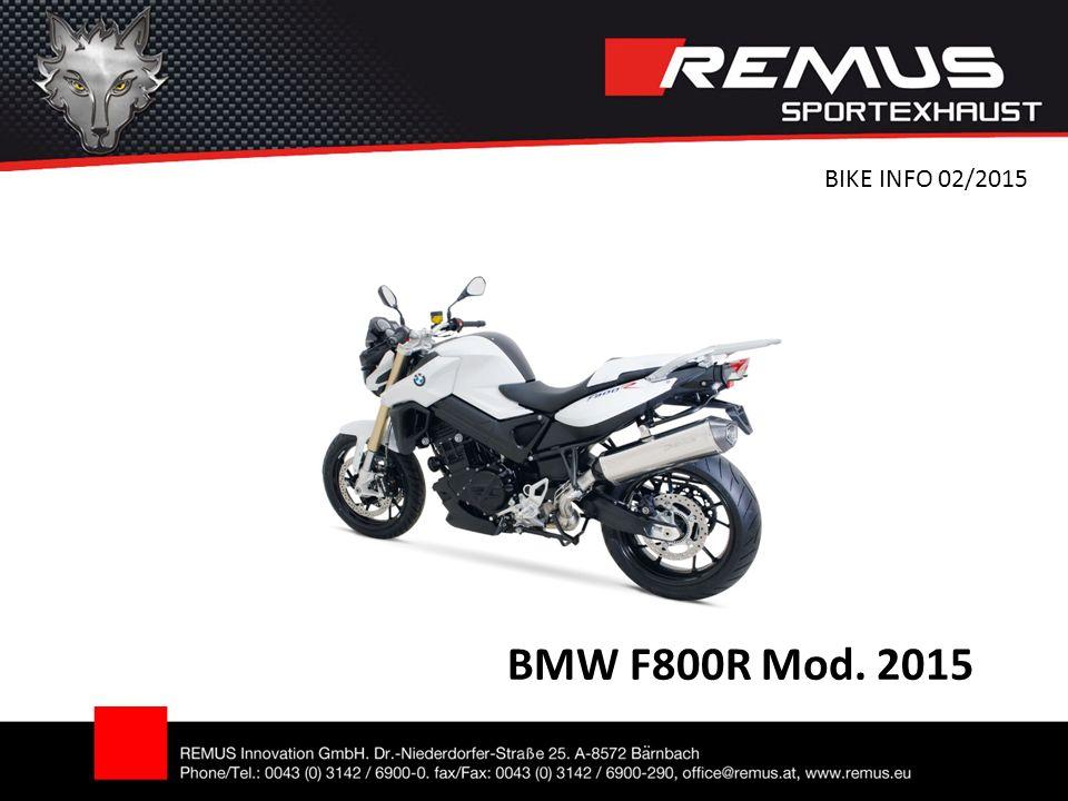 BMW F800R Mod. 2015 BIKE INFO 02/2015