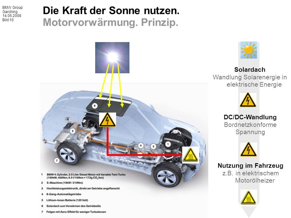 BMW Group Garching 14.05.2008 Bild 10 Die Kraft der Sonne nutzen.