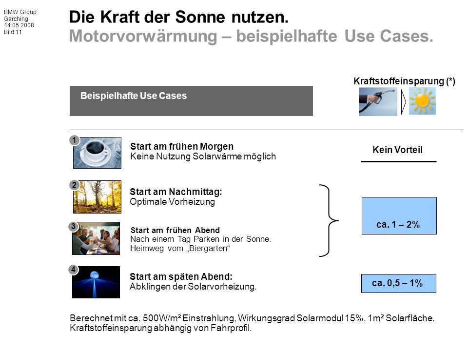 BMW Group Garching 14.05.2008 Bild 11 Beispielhafte Use Cases Berechnet mit ca.