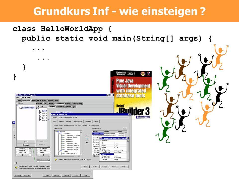 class HelloWorldApp { public static void main(String[] args) {...