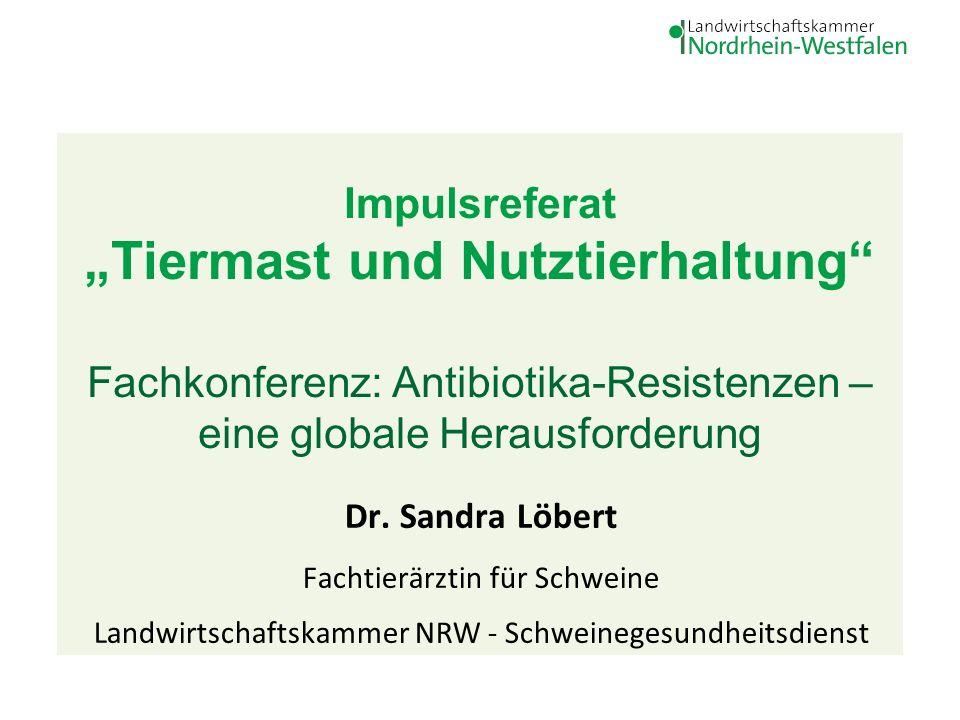 """Impulsreferat """"Tiermast und Nutztierhaltung Fachkonferenz: Antibiotika-Resistenzen – eine globale Herausforderung Dr."""