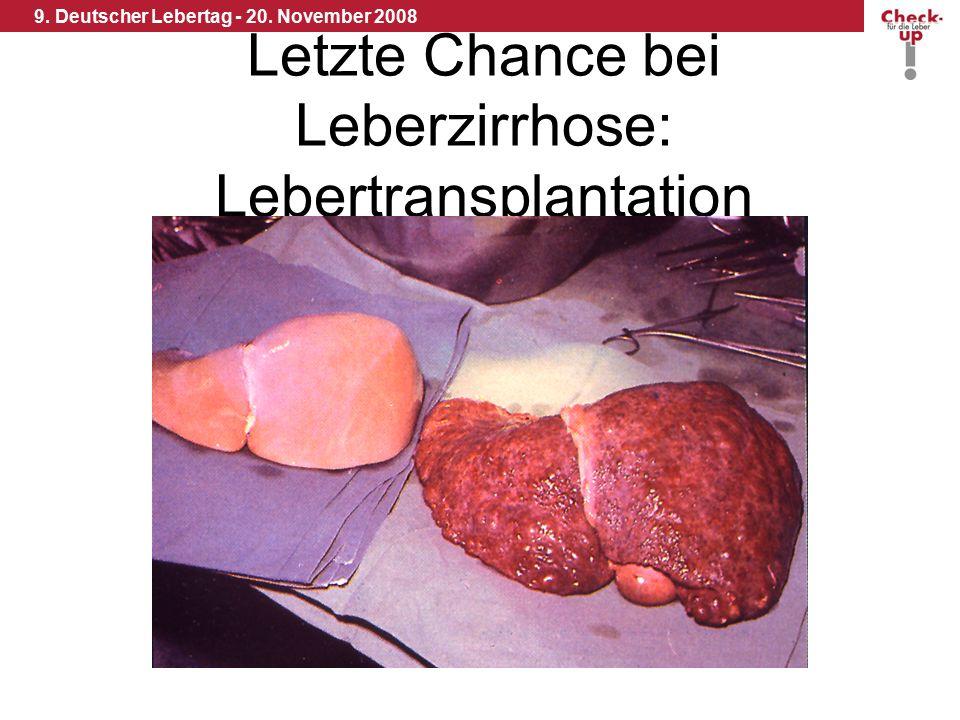 9. Deutscher Lebertag - 20. November 2008 Letzte Chance bei Leberzirrhose: Lebertransplantation
