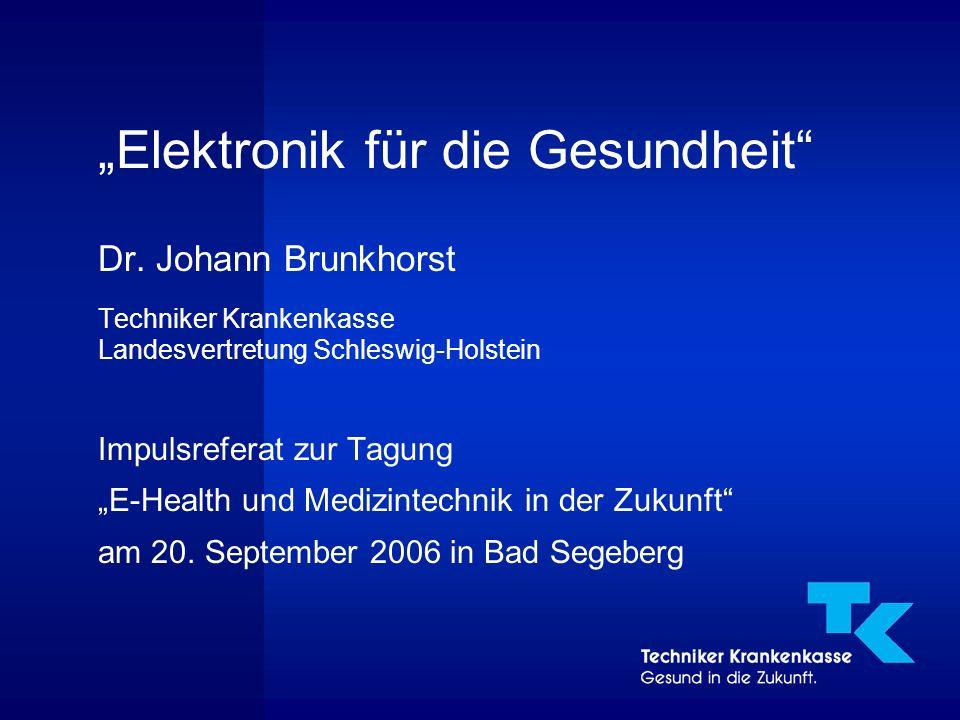 """2 """"Elektronik für die Gesundheit ● In der elektronischen Gesundheitswelt geht es nicht nur um neue diagnostische Methoden oder Operations-Techniken."""