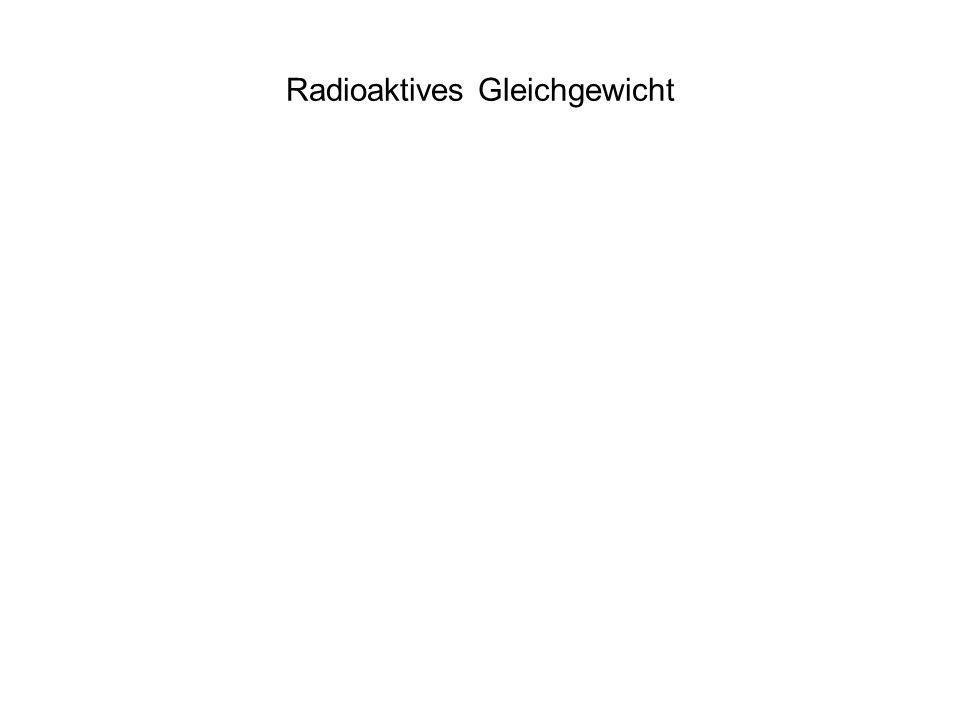 Radioaktives Gleichgewicht