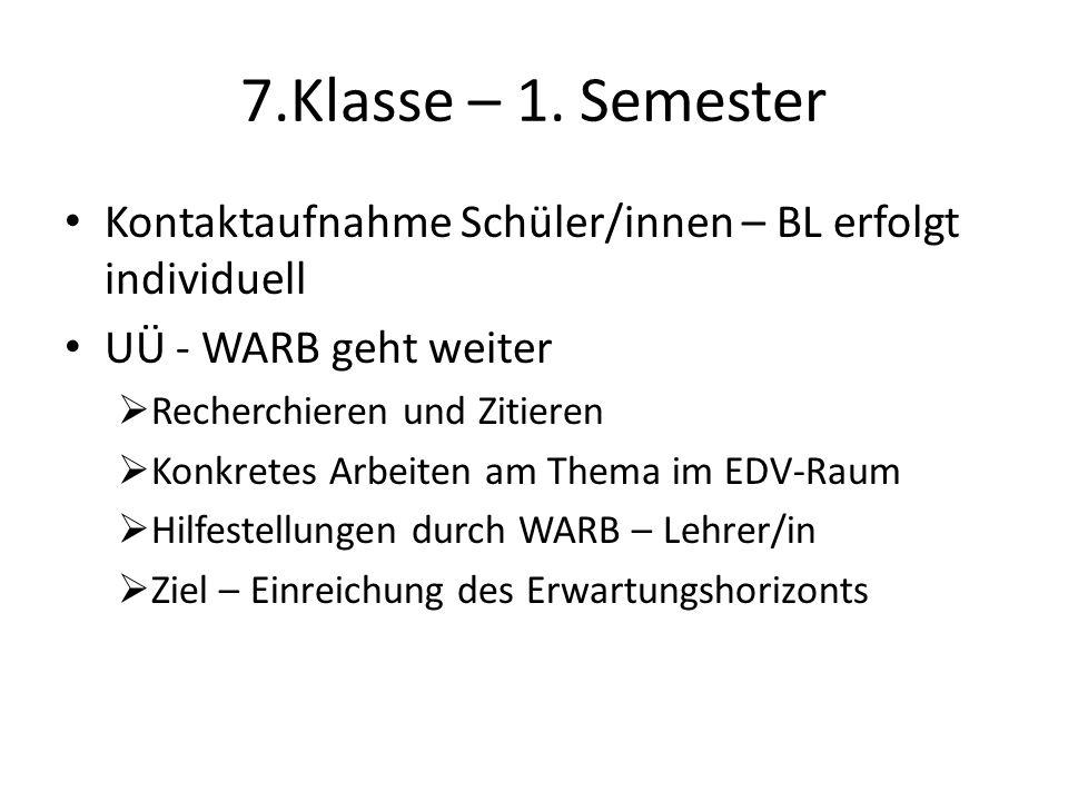 7.Klasse – 1.