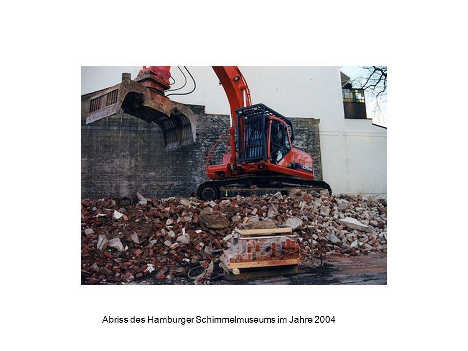 Abriss des Hamburger Schimmelmuseums im Jahre 2004