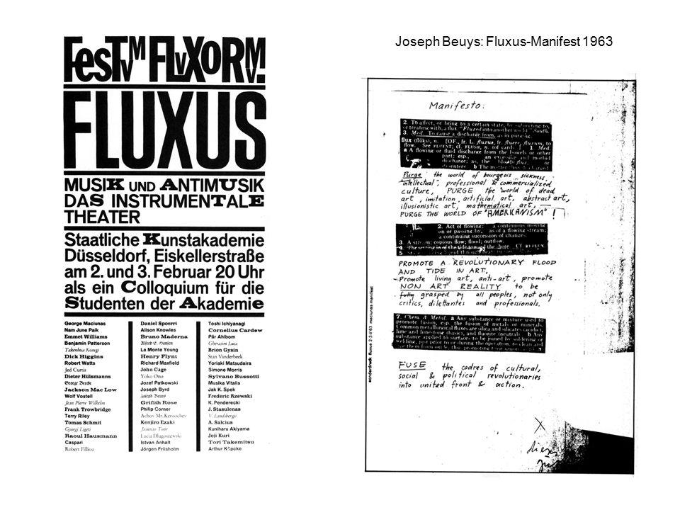Joseph Beuys: Fluxus-Manifest 1963